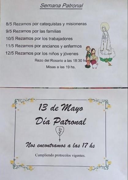 CRONOGRAMA FIESTA PATRONAL.