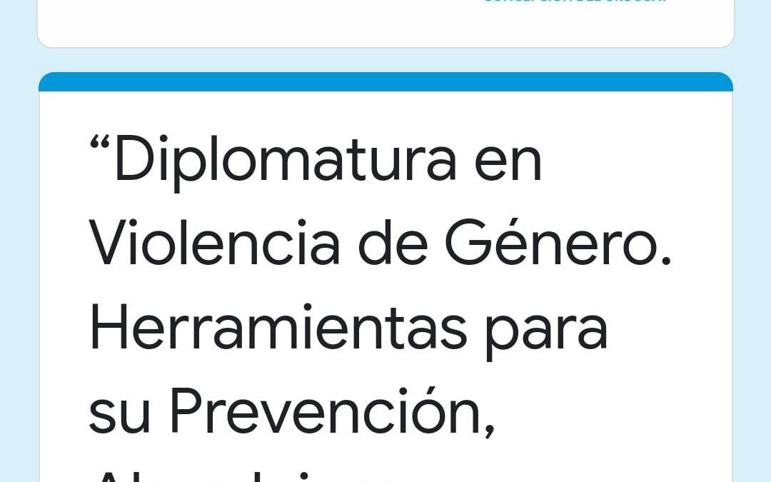 DIPLOMATURA EN VIOLENCIA DE GENERO.-